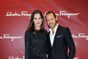 Massimiliano Giornetti and Carolina Gawronski attend the Salvatore Ferragamo Boutique Opening as part of Milan Fashion Week Womenswear Spring/Summer 2014 on September 20, 2013 in Milan, Italy.