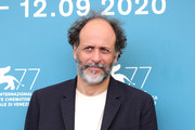 """Director Luca Guadagnino is seen at photocall of """"Salvatore – Shoemaker of Dreams"""" on September 06, 2020 in Venice, Italy."""