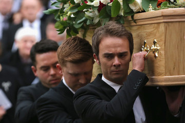 Sam Aston Funeral of Coronation Street Scriptwriter Tony Warren