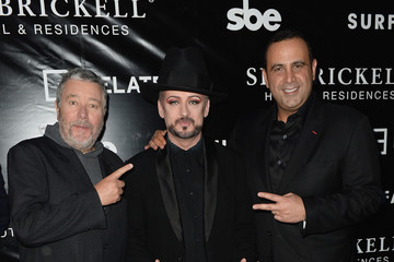 Sam Nazarian sbe's SLS Brickell Hotel & Residences Grand Opening With Performance By Boy George - Arrivals