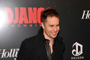Sam Rockwell Celebs at a Screening of 'Django Unchained'