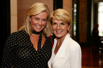 Samantha Armytage Julie Bishop Attends a Cookbook Launch in Melbourne as New Polling Shows Her as Preferred PM