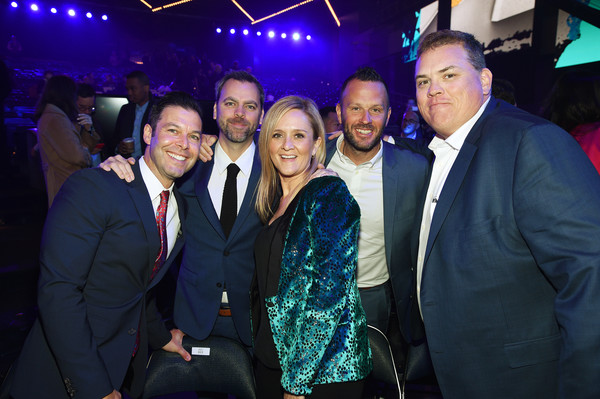 WarnerMedia Upfront 2019 - Show [upfront 2019 - show,event,fun,performance,night,suit,formal wear,nightclub,party,david wolkis,thom hinkle,brett weitz,samantha bee,general manager,production,warnermedia,tbs,tnt]