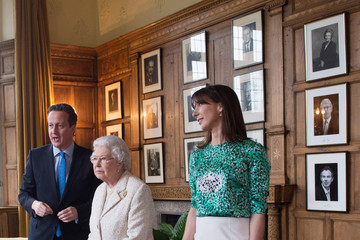 Samantha Cameron Queen Elizabeth II Visits the PM's Residence