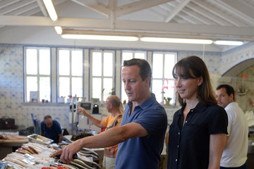 Samantha Cameron David Cameron Vacations in Portugal