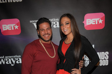 """Sammi Giancola  Ronnie Ortiz-Magro BET Networks New York Premiere Of """"Real Husbands of Hollywood"""" And """"Second Generation Wayans"""""""