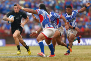 Sonny Bill Williams of the New Zealand All Blacks on the run during the International Test match between Samoa and the New Zealand All Blacks at Apia Stadium on July 8, 2015 in Apia, Samoa.