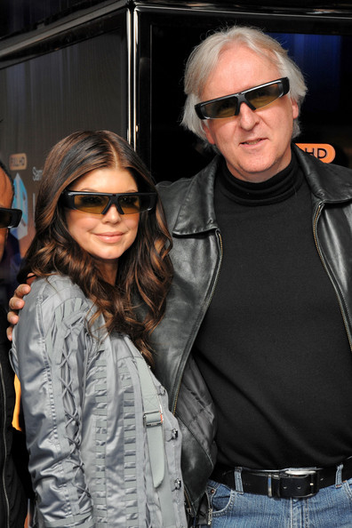 Fergie of the Black Eyed Peas and director James Cameron attend the Samsung 3D LED TV launch party with THE BLACK EYED PEAS at Time Warner Center on March 10, 2010 in New York City.