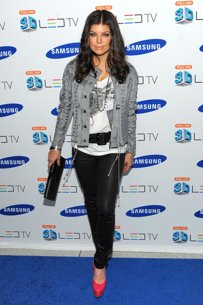 Fergie of the Black Eyed Peas attends the Samsung 3D LED TV launch party with THE BLACK EYED PEAS at Time Warner Center on March 10, 2010 in New York City.