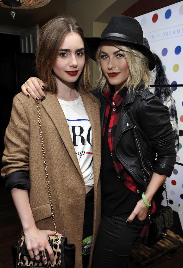 Julianne Hough and Lily Collins Are Basically Wearing the Same Lipstick
