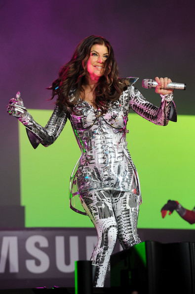 Fergie of the Black Eyed Peas performs at the Samsung Times Square Concert with THE BLACK EYED PEAS at Times Square on March 10, 2010 in New York City.