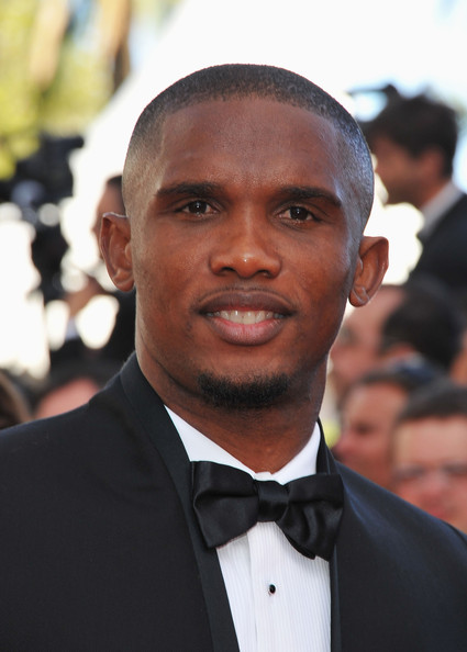 "Samuel Eto'o Footballer Samuel Eto'o attends ""The Tree Of Life"" premiere during the 64th Annual Cannes Film Festival at Palais des Festivals on May 16, 2011 in Cannes, France."