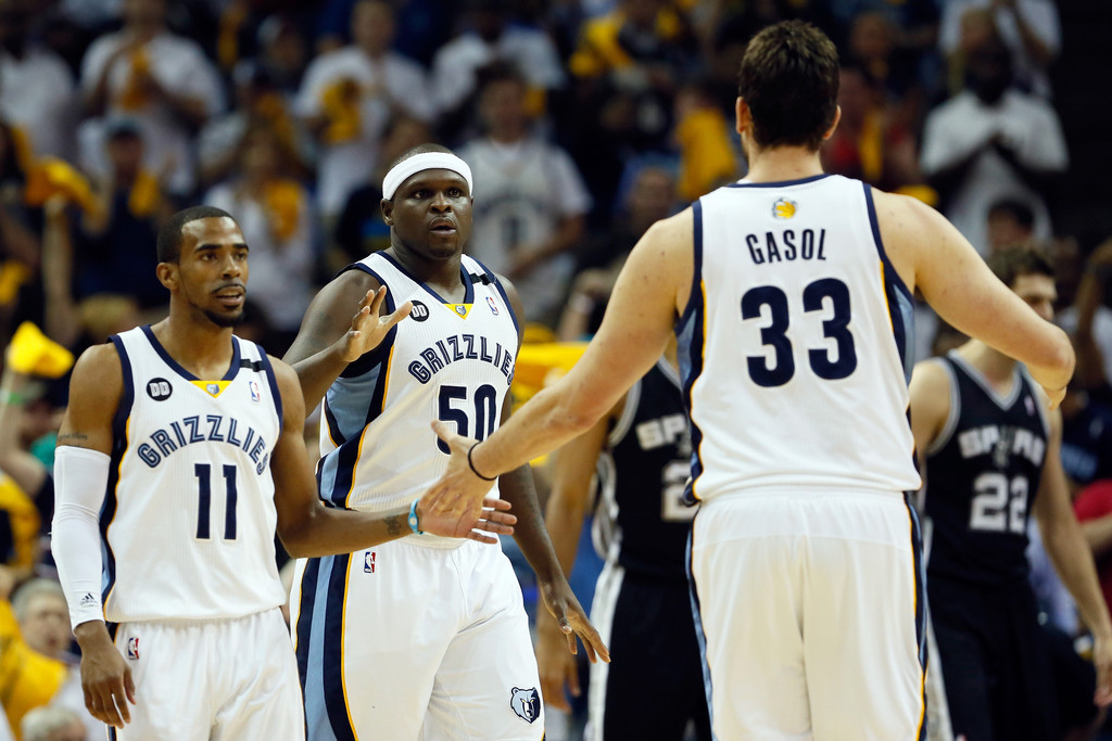 Zach Randolph, Marc Gasol, Mike Conley - Zach Randolph and Marc ...