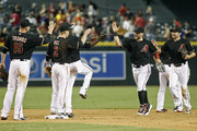 A.J. Pollock Mark Trumbo Photos Photo