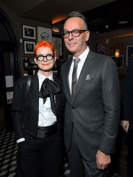 Ted's 2020 Oscar Nominee Toast [suit,formal wear,tuxedo,fashion,event,eyewear,tie,fun,white-collar worker,glasses,ted,oscar,sandy powell,christopher peterson,craig,nominee toast,west hollywood,california,tuxedo,fashion,socialite,tuxedo m.,celebrity,glasses,outerwear,carpet,event,television]