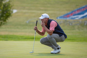 Steve Stricker plays a shot on the 16th hole in the final round of the Sanford International at Minnehaha Country Club on September 23, 2018 in Sioux Falls, South Dakota.