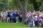 Steve Stricker plays a shot on the 18th hole in the final round of the Sanford International at Minnehaha Country Club on September 23, 2018 in Sioux Falls, South Dakota.