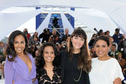 """Actresses Jessica Mauboy, Miranda Tapsell,  Shari Sebbens and Deborah Mailman attend the """"The Sapphires"""" Photocall during the 65th Annual Cannes Film Festival at Palais des Festivals on May 20, 2012 in Cannes, France."""