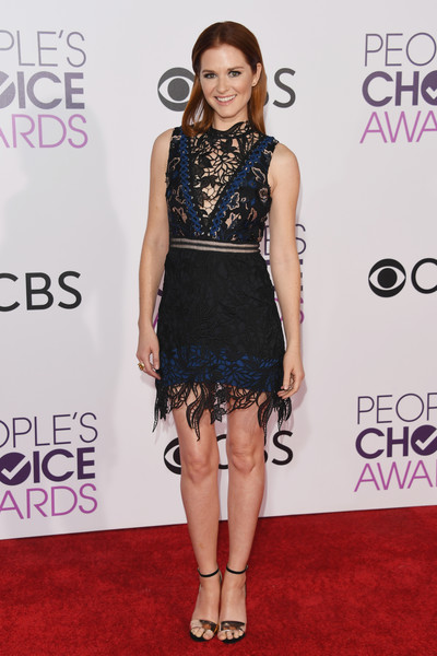 People's Choice Awards 2017 - Arrivals [clothing,dress,fashion model,cocktail dress,fashion,shoulder,red carpet,carpet,hairstyle,flooring,peoples choice awards,microsoft theater,los angeles,california,sarah drew,arrivals]