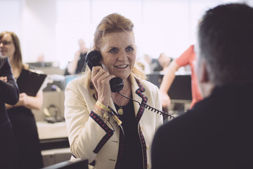 Sarah Ferguson The 13th Annual BGC Charity Day At BGC Partners In London's Canary Wharf - Behind The Scenes Colour