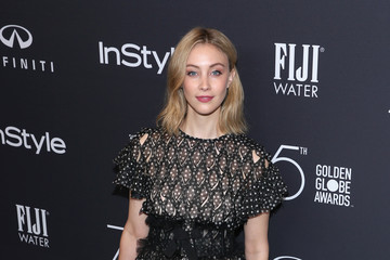 Sarah Gadon FIJI Water at the Hollywood Foreign Press Association and InStyle's Celebration of the 2018 Golden Globe Awards Season