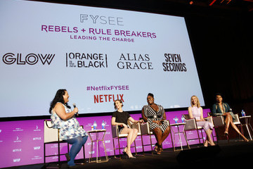 Sarah Gadon Rebels And Rule Breakers Panel At Netflix FYSEE