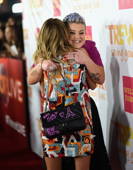 'TrevorLIVE LA' Event in LA — Part 3 [clothing,fashion,yellow,dress,hairstyle,street fashion,premiere,carpet,footwear,flooring,robert greenblatt,sarah hyland,kelly osbourne,trevorlive la,skylar kergil for the trevor project,hollywood palladium,california,yahoo,red carpet,l]