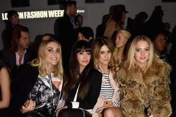 Sarah Martin Front Row at London Fashion Week
