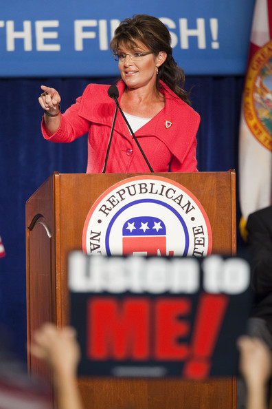 Sarah Palin Former Alaska Governor Sarah Palin speaks at the Republican National Committee Final 2010 Victory fundraising rally October 23, 2010 in Lake Buena Vista, Florida. The speakers were supporting Marco Rubio's run for U.S. Senate as well as several House of Representatives seats and statewide offices. Rubio is going against Florida Gov. Charlie Crist for the seat.
