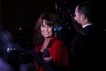 Sarah Palin Republican Presidential Nominee Donald Trump Holds Election Night Event In New York City