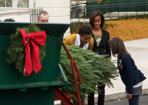 First Lady Is Presented With Official White House Christmas Tree