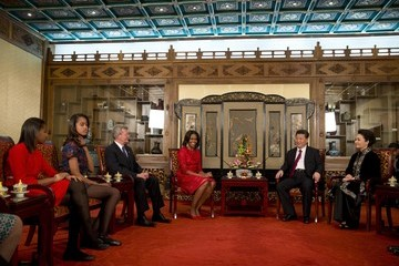 Sasha Obama Michelle Obama Travels to China: Day 2
