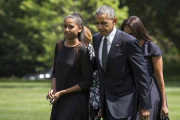Sasha Obama Obamas, Mourners Attend Funeral For Beau Biden