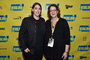 """Producer Megan Ellison (L) and SXSW Film Festival Director Janet Pierson attend the premiere of """"Sausage Party (Work In Progress)"""" during the 2016 SXSW Music, Film + Interactive Festival at Paramount Theatre on March 14, 2016 in Austin, Texas."""