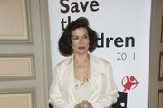 "Bianca Jagger attends ""Save the Children"" awards press conference at ""Casa de America"" on June 21, 2011 in Madrid, Spain."