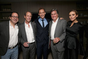 """(L-R) Co-President and Co-Founder of Sony Pictures Classics Michael Barker, director Marc Abraham, actor Tom Hiddleston, Co-President and Co-Founder of Sony Pictures Classics Tom Bernard, and actor Elizabeth Olsen attend Sony Pictures Classics after party for """"I Saw The Light"""" sponsored by Lacoste and Ciroc at The Addison Residence on September 11, 2015 in Toronto, Canada."""