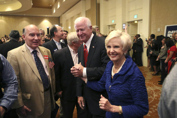Saxby Chambliss Senate Hopeful David Perdue Gathers With Supporters On Election Night