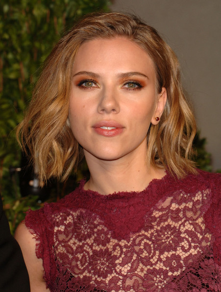 Scarlett Johansson let her hair down on the 2011
