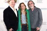 Jeff Ross, Jackson Browne and guest attend Scleroderma Research Foundation's Cool Comedy - Hot Cuisine New York 2018 at Caroline's on Broadway on December 11, 2018 in New York City.
