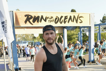 Scott Eastwood adidas x Parley Harness The Power Of Sport And Continue Fight Against The Threat Of Marine Plastic Pollution; Hosting 'Run For The Oceans' event at Temescal Park in Los Angeles, CA