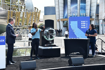 Scott Evans Governor Gavin Newsom Holds Press Conference For Official Reopening Of The State Of California At Universal Studios Hollywood
