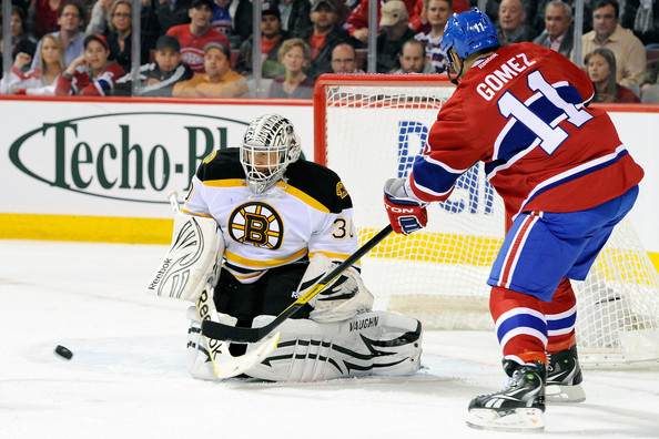 Scott Gomez - Boston Bruins v Montreal Canadiens