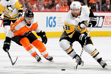 Scott Laughton Pittsburgh Penguins v Philadelphia Flyers - Game Four