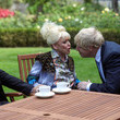 Scott Mitchell Prime Minister Meets With Dame Barbara Windsor At Downing Street