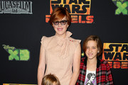 """Actress Molly Ringwald and her family attend the Screening of Disney XD's """"Star Wars Rebels: Spark of Rebellion"""" at the AMC Century City 15 theater on September 27, 2014 in Century City, California."""