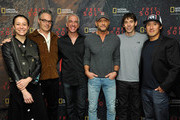 """(L-R) Director and producer Elizabeth Chai Vasarhelyi, composer Marco Beltrami, Scott Mantz, Tim McGraw, featured climber Alex Honnold, and director, producer, and cinematographer Jimmy Chin attend the screening of """"Free Solo"""" hosted by Tim McGraw at SilverScreen Theater at the Pacific Design Center on November 11, 2018 in West Hollywood, California."""