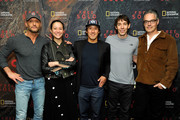 """(L-R) Tim McGraw, director and producer Elizabeth Chai Vasarhelyi, director, producer, and cinematographer Jimmy Chin, featured climber Alex Honnold, and composer Marco Beltrami attend the screening of """"Free Solo"""" hosted by Tim McGraw at SilverScreen Theater at the Pacific Design Center on November 11, 2018 in West Hollywood, California."""
