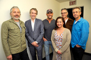 """(L-R)  Buck Sanders, Carter Burwell, Tim McGraw, Stephanie Lowry, Marco Beltrami, and Nicholas Pike attend the screening of """"Free Solo"""" hosted by Tim McGraw at SilverScreen Theater at the Pacific Design Center on November 11, 2018 in West Hollywood, California."""
