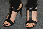 """Actress Lucy Punch(shoe detail) attends the Screening of Oscilloscope Laboratories' """"We Need To Talk About Kevin"""" at the Writers Guild Theater on November 10, 2011 in Beverly Hills, California."""