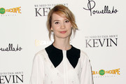 """Actress Mia Wasikowska attends the Screening of Oscilloscope Laboratories' """"We Need To Talk About Kevin"""" at the Writers Guild Theater on November 10, 2011 in Beverly Hills, California."""